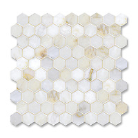 3cm Hex shown in polished Cloud Nine is part of New Ravenna's Studio Line. All mosaics in this collection are ready to ship within 48 hours.<br />