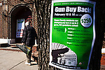 New Jersey, United States. 15th February 2013 -- A older man arrives to a church to change his rifle by money during the Gun Buyback program in New Jersey. Photo by Eduardo Munoz Alvarez / VIEWpress.
