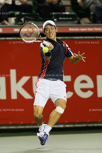 Kei Nishikori (JPN), .OCTOBER 4, 2012 - Tennis : .Rakuten Japan Open Tennis Championships 2012 .Men's Singles .at Ariake Coliseum, Tokyo, Japan. .(Photo by YUTAKA/AFLO SPORT) [1040]