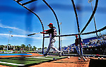 7 March 2010: Washington Nationals' infielder Pete Orr takes batting practice prior to a Spring Training game against the New York Mets at Tradition Field in Port St. Lucie, Florida. The Mets edged out the Nationals 6-5 in Grapefruit League pre-season play. Mandatory Credit: Ed Wolfstein Photo