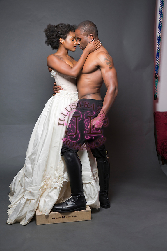 Romance Book Cover Stock Photos ~ Historical themed black couple stock images for romance