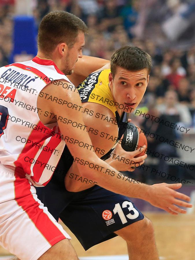 Kosarka Euroleague season 2015-2016<br /> Euroleague <br /> Crvena Zvezda v Fenebahce Istanbul<br /> Bogdan Bogdanovic and Marko Guduric (L)<br /> Beograd, 06.11.2015.<br /> foto: Srdjan Stevanovic/Starsportphoto &copy;