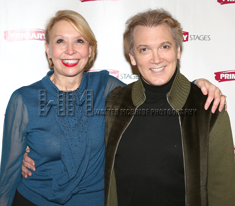 Julie Halston & Charles Busch attending the Meet & Greet for the Primary Stages production of 'The Tribute Artist' at their rehearsal studios  on January 7, 2014 in New York City.