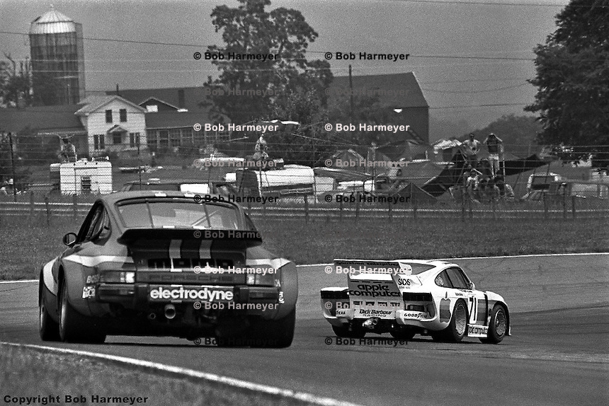 Bobby Rahal leads through Turn 1 in the 1980 Watkins Glen 6 Hours race at Watkins Glen International, Watkins Glen, New York, USA.
