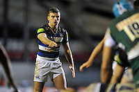 George Ford of Bath Rugby. Aviva Premiership match, between Leicester Tigers and Bath Rugby on November 29, 2015 at Welford Road in Leicester, England. Photo by: Patrick Khachfe / Onside Images