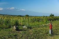 Kilimanjaro viewed from the Moshi to Arusha road in Tanzania