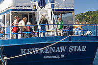 The Keweenaw Star tour on the Portage Canal in Houghton Michigan.