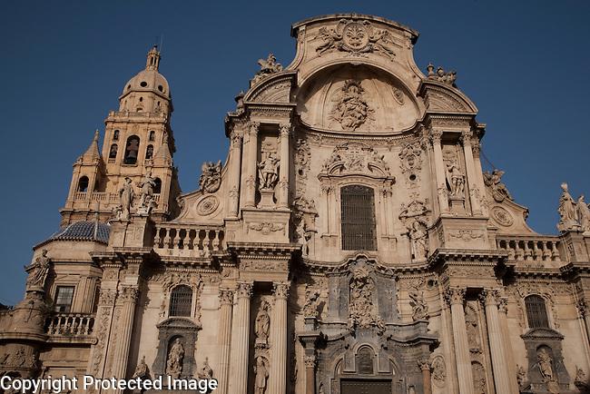 Murcia Santa Maria Cathedral Church Main Facade, Spain
