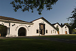 Chile Wine Country: Undurraga Winery, Vina Undurraga, near Santiago.  Horizontal of  winery  building..Photo #: ch406-33876..Photo copyright Lee Foster, 510-549-2202, www.fostertravel.com, lee@fostertravel.com.