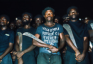 10 Nov 1975, Luanda, Angola --- The Popular Movement for the Liberation of Angola (MPLA) militia in Luanda the night of the independence. Upon independence from Portugal in 1975, Luanda and nominal government came under the one-party rule of MPLA. --- Image by © JP Laffont
