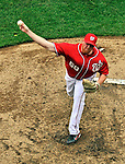 19 June 2011: Washington Nationals' pitcher Todd Coffey on the mound against the Baltimore Orioles in a Father's Day matchup at Nationals Park in Washington, District of Columbia. The Orioles defeated the Nationals 7-4 in inter-league play, ending Washington's 8-game winning streak. Mandatory Credit: Ed Wolfstein Photo