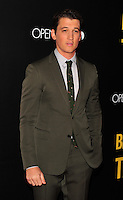 NEW YORK,NY November 014 : Miles Teller attends as Open Road with Men's Fitness host the premiere of 'Bleed For This' at AMC Lincoln Square Theater on November 14, 2016 in New York City..@John Palmer / Media Punch