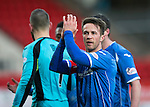St Johnstone v Motherwell&hellip;20.02.16   SPFL   McDiarmid Park, Perth<br />Chris Millar applauds the fans at full time<br />Picture by Graeme Hart.<br />Copyright Perthshire Picture Agency<br />Tel: 01738 623350  Mobile: 07990 594431