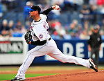 11 March 2010: New York Mets starting pitcher Mike Pelfrey in action during a Spring Training game against the Boston Red Sox at Tradition Field in Port St. Lucie, Florida. The Red Sox defeated the Mets 8-2 in Grapefruit League action. Mandatory Credit: Ed Wolfstein Photo