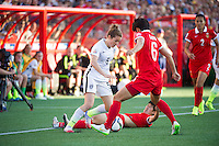 OTTAWA, Canada - Friday June 26, 2015: The United States of America (USA) takes on The People's Republic of China (China PR) in the Quarter-finals of the FIFA Women's World Cup Canada 2015 at Lansdowne Stadium.