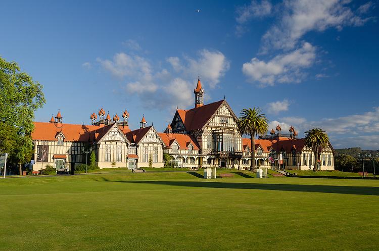 Rotorua Museum, Government Gardens, Rotorua, New Zealand - stock photo, canvas, fine art print