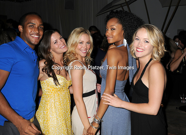 All My Children cast, Sterling Sulieman, Melissa Claire Egan, .Amanda Baker, Yaya DaCosta and Brianne Moncrief.at The 19th Annual Marcia Tovsky Pre-Daytime Emmy Party on June 11, 2008 at Nikki Midtown in New York City. ..Robin Platzer, Twin Images