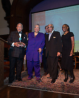 NEW YORK, NY - APRIL 3: Hon. David N. Dinkins, Charles B. Rangel, Dr. Phyllis Harrison-Ross, Chirlane McCray pictured as David N. Dinkins, 106th Mayor of the City of New York, receives the Dr. Phyllis Harrison-Ross Public Service Award for a lifetime of public service at the New York Society of Ethical Culture in New York City on April 3, 2014. Credit: Margot Jordan/MediaPunch
