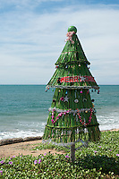 Christmas Tree on Christmas Day 2012. Coast road to Negombo from Pamunugama.