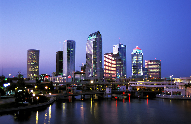 Florida, Tampa: City skyline.  Photo #: tampas101..Photo copyright Lee Foster, www.fostertravel.com, 510/549-2202, lee@fostertravel.com