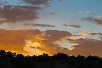 sunset over Abiquiu, New Mexico
