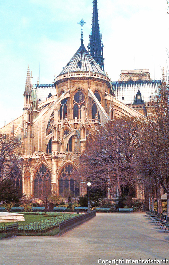 Paris: Notre Dame--completed in 1250. Photo '87.