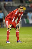 Liborio Sanchez Mexico goalkeeper... Mexico defeated Canada 3-1 in Olympic Qualifying semi final at LIVESTRONG Sporting Park, Kansas City, Kansas.