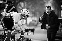 Jasper Stuyven (BEL/Trek Factory-Segafredo) solo's to his first classic win<br /> <br /> Kuurne-Brussel-Kuurne 2016