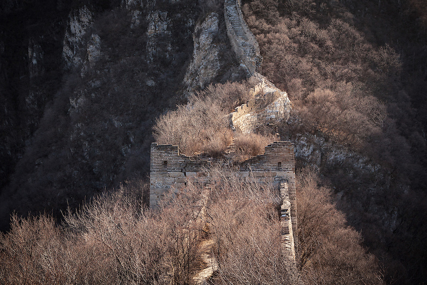 A deteriorating tower near Tian Ti (Heavenly Ladder) of Jiankou Great Wall.