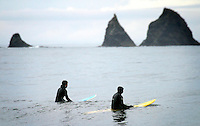 Coldwater surfers, Surfing the Washington coast near La Push.