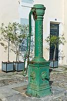 Old village water pump at St Martin de Re, Ile de Re, France