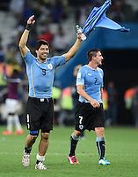 FUSSBALL WM 2014  VORRUNDE    GRUPPE D     Uruguay - England                     19.06.2014 Luis Suarez (Uruguay) jubelt nach dem Abpfiff