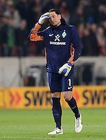 FUSSBALL  1. BUNDESLIGA  SAISON 2011/2012  31. SPIELTAG 13.04.2012 VfB Stuttgart - SV Werder Bremen Enttaeuschung Werder Bremen;   Torwart Tim Wiese (