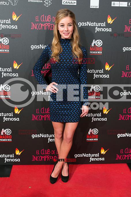 attend the Premiere of the movie &quot;El club de los incomprendidos&quot; at callao Cinema in Madrid, Spain. December 1, 2014. (ALTERPHOTOS/Carlos Dafonte) /NortePhoto<br /> /NortePhoto