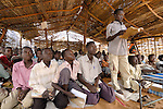 Boys in class in a school in the Dereig Camp for internally displaced persons.