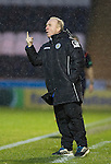 St Mirren v St Johnstone...06.12.14   SPFL<br /> Tommy Craig signals to his players<br /> Picture by Graeme Hart.<br /> Copyright Perthshire Picture Agency<br /> Tel: 01738 623350  Mobile: 07990 594431