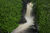 Waterfall on the Cascade River at Cascade River State Park in northern Minnesota.