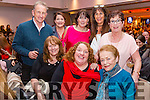 Enjoying a great night of dancing at the Dromid GAA Strictly Come Dancing night in The Sea Lodge, Waterville were front l-r; Angela O'Shea, Cáit O'Connor, Mary O'Connor, back l-r; Dan O'Shea, Bridget Buckley, Mary McGarvey O'Connor, Joan O'Sullivan & Rose Fogarty.
