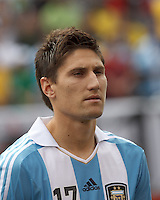 Argentina defender Federico Fernandez (17). In an international friendly (Clash of Titans), Argentina defeated Brazil, 4-3, at MetLife Stadium on June 9, 2012.