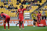 Osama Malik during the A League - Wellington Phoenix v Adelaide United, Wellington, New Zealand on Sunday 30 March 2014. <br /> Photo by Masanori Udagawa. <br /> www.photowellington.photoshelter.com.