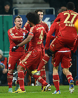 FUSSBALL  DFB-POKAL  ACHTELFINALE  SAISON 2012/2013    FC Augsburg - FC Bayern Muenchen        18.12.2012 Xherdan Shaqiri, Dante und Javi , Javier Martinez (v.li., FC Bayern Muenchen)