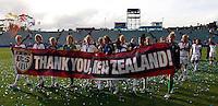 USA thank the fans..FIFA U17 Women's World Cup Final, USA v Korea DPR, Albany Stadium, Auckland, New Zealand, Sunday 16 November 2008. Photo: Renee McKay/PHOTOSPORT