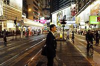 Les boulevards de Wanchai le soir.