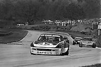 Sam Posey drives a Datsun 260Z during a Camel GT IMSA race at Road Atlanta near Flowery Branch, Georgia, on April 17 1977. (Photo by Bob Harmeyer)