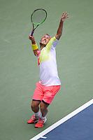 FLUSHING NY- SEPTEMBER 06: Gael Monfils Vs Lucas Pouille on Arthur Ashe Stadium at the USTA Billie Jean King National Tennis Center on September 6, 2016 in Flushing Queens. Credit: mpi04/MediaPunch
