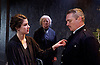 The Father <br /> by August Strindberg <br /> at Trafalgar Studios <br /> London, Great Britain <br /> press photocall <br /> 12th March 2015 <br /> <br /> <br /> Alex Ferns as Captain <br /> <br /> <br /> <br /> Emily Dobbs as Laura <br /> <br /> June Watson as Nurse <br /> <br /> <br /> <br /> <br /> Photograph by Elliott Franks <br /> Image licensed to Elliott Franks Photography Services
