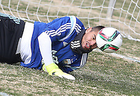 Washington,DC. - Tuesday, March 24 2015: Argentina national team practice session at Shaw Field on the campus of Georgetown University.