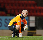 St Johnstone v Aberdeen...13.12.11   SPL .A gutted Peter Enckelman.Picture by Graeme Hart..Copyright Perthshire Picture Agency.Tel: 01738 623350  Mobile: 07990 594431