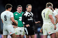 Referee Romain Poite. RBS Six Nations match between England and Ireland on February 27, 2016 at Twickenham Stadium in London, England. Photo by: Patrick Khachfe / Onside Images