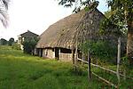 Thatched hut in Barranco Village, Belize. Barranco is a Garafuna Village near Sarstoon-Temash National Park, in southern Belize.